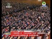 十三届全国人大一次会议选举产生新一届国家领导人 习近平全票当选国家主席 中央军委主席