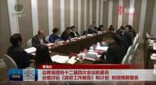 出席省政协十二届四次会议的委员分组讨论《政府工作报告》和计划 财政预算报告