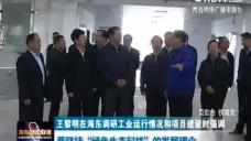 """王黎明在海东调研工业运行情况和项目建设时强调 要坚持""""绿色生态科技""""的发展理念"""