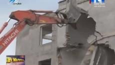 城中区强制拆除违法建筑 保障省市重点项目顺利进行