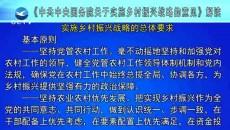 《中共中央国务院关于实施乡村振兴战略的意见解读》