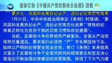新修订的《中国共产党纪律处分条例》解读
