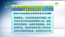 省委全面深化改革委员会召开第一次会议 王建军主持 刘宁出席