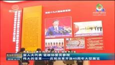 省人大代表 省政协委员参观伟大的变革——庆祝改革开放40周年大型展览