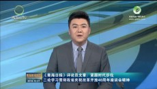 《青海日报》评论员文章:紧跟时代步伐 二论学习贯彻我省庆祝改革开放40周年座谈会精神