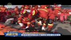 青海省消防救援总队开展跨区域地震拉动演练