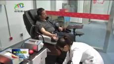 格尔木路政执法支队开展义务献血活动