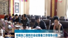 海东市政协二届四次会议筹备工作领导小组第一次会议召开