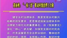 """黄南州:""""一核三治""""推动村级治理上台阶"""