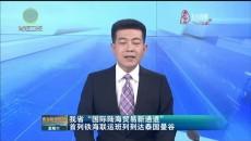 """我省""""国际陆海贸易新通道""""首列铁海联运班列到达泰国曼谷"""