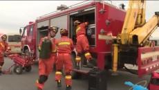 省消防救援總隊在海北州海晏縣西海鎮組織開展跨區域地震救援實戰拉動演練