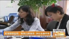 青海银保监局:聚焦扫黑除恶 净化金融环境
