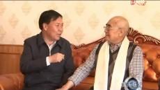 喬學智看望慰問50年黨齡老黨員