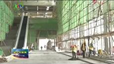 青藏樞紐格爾木站站房修建已完成工程量的90%