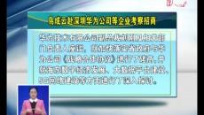 鸟成云赴深圳华为公司等企业考察招商