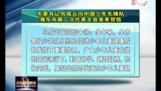 海東市委書記鳥成云向中國少年先鋒隊海東市第二次代表大會發來賀信