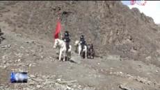 馬背上的疫情防控巡邏隊