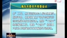 海東市委召開常委會議