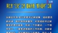 """同仁市""""三化""""工作 提標升級""""抓鄉促村""""工程"""