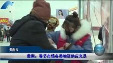 贵南:春节市场各类物资供应充足