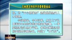 王林虎主持召开市委常委会议