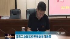 海东工业园区召开党史学习教育第三次美高梅美高梅官方网研讨会