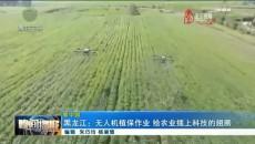 黑龙江:无人机植保作业 给农业插上科技的翅膀