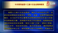 中共青海省委十三届十次全会精神解读
