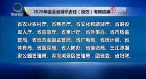 2020年度全省目标责任(绩效)考核结果