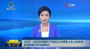 习近平《在庆祝中国共产党成立100周年大会上的讲话》多语种单行本出版发行