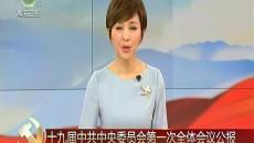 十九屆中共中央委員會第一次全體會議公報