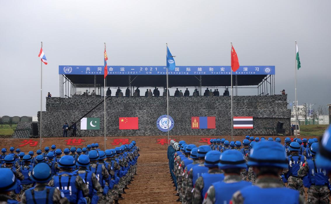 """""""共同命运-2021""""美高梅官方网维和实兵演习正式开始"""