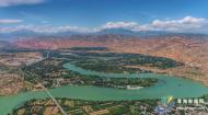 航拍青海黄河 见证生态之美