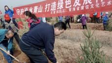 携手添新绿 共创样板城——石坡街社区组织开展义务植树活动