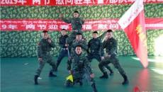 海北州民族歌舞团走进武警海北支队 与官兵共迎新春佳节