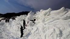 今年春节 民和七里寺花海景区滑雪去