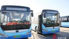 大通:首批47辆新能源公交车投入试运行