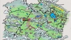 """青海發布航食手繪地圖 滿足旅客""""吃、住、行、游、購"""""""