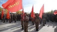 駐軍某旅召開實戰背景下 演訓動員出征誓師大會