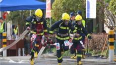 """聚焦火焰藍 青海消防隊員參加全國首屆""""火焰藍""""消防救援技術對抗比武"""