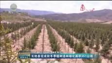 互助县完成秋冬季植树造林绿化面积351公顷