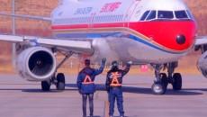 西寧機場為青海省第二批支援湖北醫療隊保駕護航