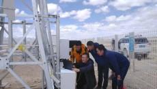 那陵格勒國家基準無人氣候站北斗上傳數據調試成功