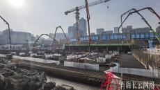 青藏高原303米第一高楼基础筏板浇筑启动仪式今日举行