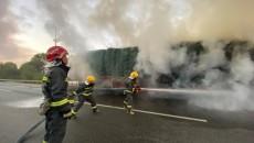 青海海东:京藏高速平安至乐都方向发生一起半挂车轮胎火灾事件