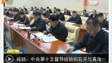 中央第十五督导组组织召开与青海省驻点指导组视频工作例会