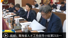 青海省人才工作领导小组第23次会议召开