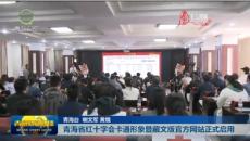 青海省红十字会卡通形象暨藏文版官方网站正式启用
