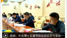 中央第十五督导组组织召开与省级驻点指导组第三次视频工作例会