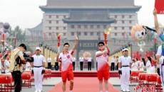 """十四运会和残特奥会火炬传递在西安""""开跑"""""""